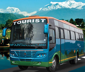 I took this bus. I was taking a mountain to go to the mountain :D